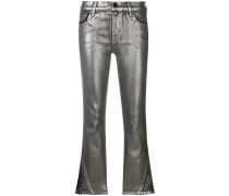 3 Foiled cropped skinny trousers