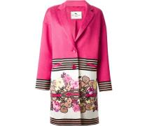 Mantel mit Streifen und Blumen-Print