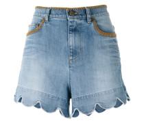 Jeans-Shorts mit gewelltem Saum - women