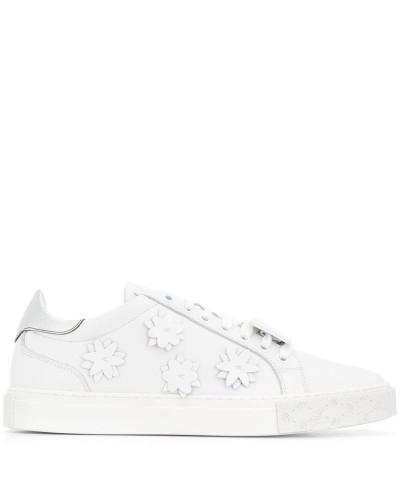 Sneakers mit Blumen-Patch