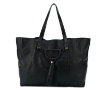 snakeskin effect large tote - women - Leder