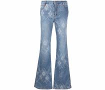 Jeans mit Rautenmuster
