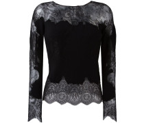 lace insert knitted top