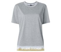 lurex banded logo T-shirt
