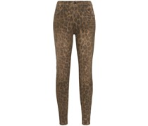 Skinny-Jeans mit Leopardenmuster
