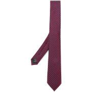 woven micro circle print tie