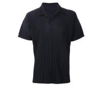 Plissiertes Poloshirt