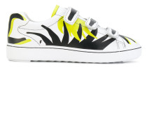 touch-strap printed sneakers