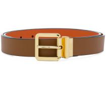 orange lined belt