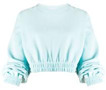 Cropped-Sweatshirt mit Rundhalsausschnitt