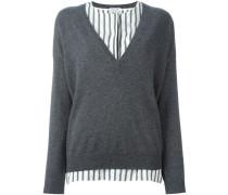 Kaschmir-Pullover im Lagen-Look