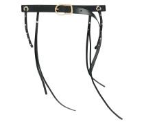 skinny tassel belt