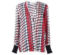 Pyjama-Jacke mit Erdbeer-Print