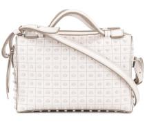 Kastige Handtasche mit Noppen
