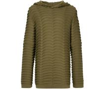 macro knit hoodie
