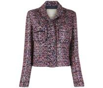 Tweed-Jacke mit Brusttasche