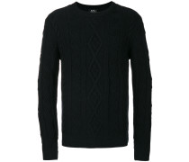 A.P.C. Pullover mit Aranmuster