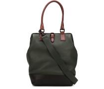 Handtasche mit kontrastfarbigen Henkeln