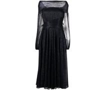 Schulterfreies Bonton Metallic-Kleid