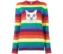 - Intarsien-Pullover mit Katzenmotiv - women