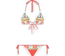 Bikini mit grafischem Print