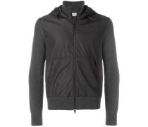 contrast front hoodie