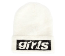 "Beanie mit ""Girls""-Stickerei"