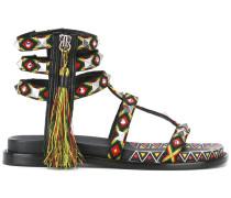Sandalen mit Quastenverzierung - women