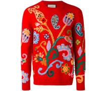 Intarsien-Wollpullover mit Paisley-Muster - men