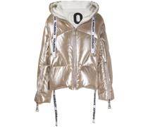 Oversized-Jacke im Metallic-Look