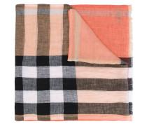 - House Check scarf - men - Leinen/Flachs