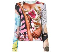 Sweatshirt mit Foto-Print
