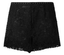 studded heavy lace shorts