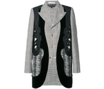panelled fitted jacket