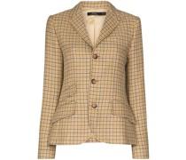 Tweed-Blazer mit Karomuster
