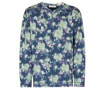 Langarmshirt mit Blumen-Print