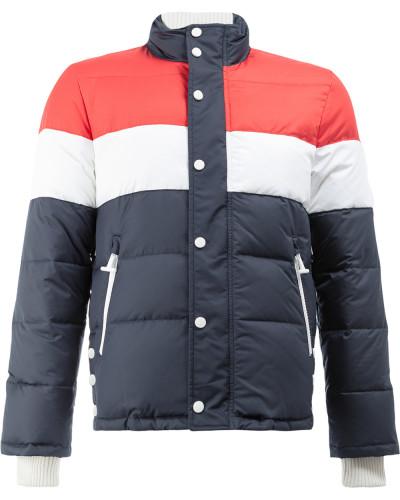 Three Panel Downfilled Funnel Collar Ski Jacket In Mini Ripstop