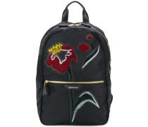 Rucksack mit Blumen-Patch