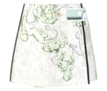 rabbit print mini skirt
