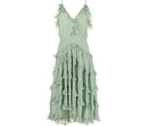 Gestuftes Kleid mit Paisley-Print