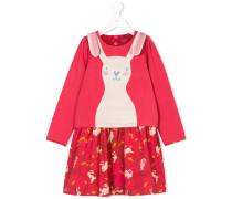 Kleid mit Häschen-Print
