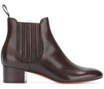 Chelsea-Boots mit Glanz-Effekt