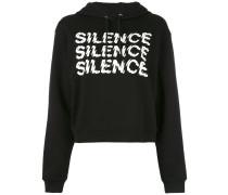 Silence cropped hoodie - women - Baumwolle - XXS