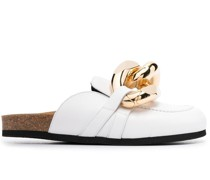 Loafer-Mules mit Kettendetail