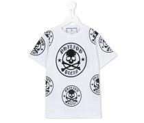 - T-Shirt mit Totenkopf-Logos - kids - Baumwolle