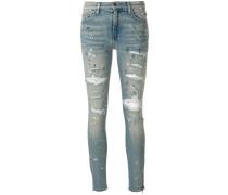 'Thrasher' Skinny-Jeans in Distressed-Optik
