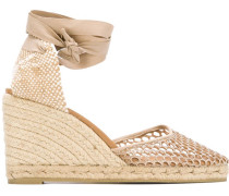 Wedge-Sandalen mit Lochmuster