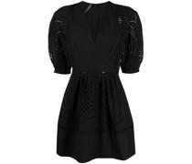 macramé-trimmed dress