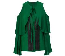 cold-shoulder lace insert blouse