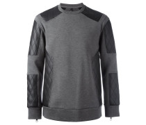 quilted panel sweatshirt
